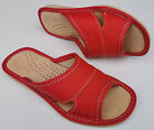 Womens Natural 100% genuine leather slippers sandals Ladies Size 4 5 6 7 8 9 10
