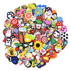 US Stock 30-200pcs Random Mixed Shoe Charms PVC Adapts for Sandals Kids Gifts