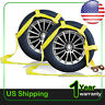 2* Car Dolly Flat Bed Car Tie Down Kit Wheel Tire Basket Strap Auto Straps US