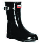 Womens Hunter Original Refined Short Gloss Winter Snow Wellingtons Boots UK 3-9