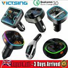 QC3.0 Bluetooth Car Transmitter Radio USB FM Fast Charger Wireless MP3 Player AU