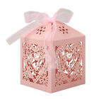 25/50/100Pcs Love Heart Favor Ribbon Gift Box Candy Boxes Wedding Party Favour