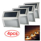 4/6X Solar Powered LED Stainless Steel Fence&Path Light Outdoor Garden Step Wall