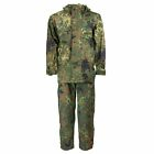 SIZES German army field Jacket & BIB GoreTex Flecktarn waterproof rain gear Set