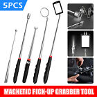 5x Telescopic Magnetic Pickup Rod Tool Stick Extend Magnet Inspection Mirror Set