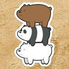 We Bare Bears Stack Panda Grizzly Ice Bear Car Window Wall Die Cut Decal Sticker