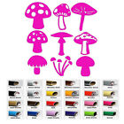 9 Forest Mushrooms decal Sticker for Car Window Bumper Wall Door Room Mac Laptop