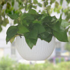 1*wall Fence Plastic Hanging Basket Garden Plant Flower Pot Planter With Chain