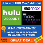 Hulu Premium + HBO Account  ✅1 Year Warranty ✅Very Fast Delivery