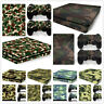 Skin Sticker For PS4 / SLIM /PRO PlayStation 4 Console + 2 Controller Camouflage