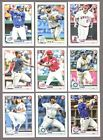 2020 BOWMAN BASE #'s 1-100 (RC's, STARS) - WHO DO YOU NEED!!Baseball Cards - 213