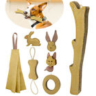 Dog Chew Toys for Aggressive Chewers Durable Jute Bite Tug/Rag/Ring/Rabbit/Wolf