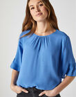New Crew Clothing Womens Fluted Sleeve Top in Size 10