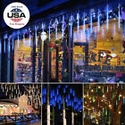 144 216 LEDs Waterproof Meteor Shower Rain Icicle Snow Falling String Lights US