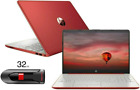 "New Hp 15.6"" Hd Red Laptop Intel Quad Core 2.7ghz 4gb Ram Webcam Windows 10"