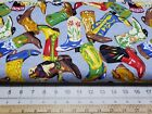 Tex Mex Boots Fabric Sewing Crafting Quilting