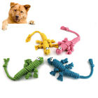 WO_ CW_ New Pet Dog Puppy Cotton Rope Crocodilian Molar Bite-resistant Play Chew