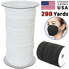 Kyпить 1/8 1/4 Inch Width Elastic Band Sewing Black White Flat DIY Face Mask 100 Yards на еВаy.соm
