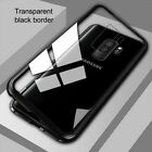 Fit Samsung GalaxyS7 S8 S9 S10Plus Magnetic Adsorption Tempered Glass Case Cover