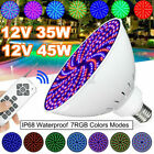 45W 252 LED RGB Underwater Swimming Pool Light Lamp 120V + Remote Control $45.98 USD on eBay