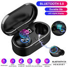 Bluetooth 5.0 Headset LED Wireless TWS Earphones Earbuds Stereo Mini Headphones