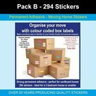 Pack B - 294 Home Moving Stickers