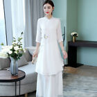 Summer New Vogue Ethnic Style Womens Chinese Improved Print Dress
