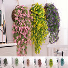 Artificial Fake Hanging Flowers Vine Plant Home Garden Indoor Outdoor Decor US