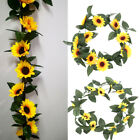 2.5m Artificial Sunflower Garland Fake Flowers Ivy Silk Leaf Plants Home Decors