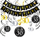 Konsait 30th Birthday Party Decorations Kit Cheers to 30 Years Banner and 30th