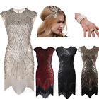 1920s Flapper Gatsby Sequins Cocktail Evening Dress Tassels Fringe Party Dresses