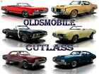 "Oldsmobile Cutlass Metal Sign 9"" x 12"" or 12"" x 16"""