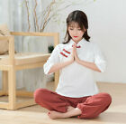 Retro Women Chinese Cotton Linen Ethnic Fit Han Fu Color matching Two-piece