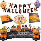 Halloween Party Ghost Foil Balloons Skull Scary Banner Candy Plate Headband