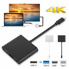 Type C USB 3.1 to 4K HDMI USB 3.0 PD Charging Adapter For Laptop Macbook Samsung