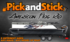 American Flag Rip Graphic Decal, 3M, Boat, Car, Truck, RV, Trailer, Made in USA!