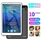 "10"" Ultra-thin 4G 8 64G Tablet PC Android 9.1 WI-FI Dual SIM Triple Camera"