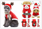Christmas clothes dog cat clothes pet Costumes hooded small dogs warm apparel