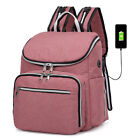 Baby Diaper Bag USB Charge Large Mummy Nursing Maternity Nappy Changing Backpack