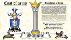 Strachar-Strykers COAT OF ARMS HERALDRY BLAZONRY PRINT