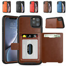 For Iphone 11 Pro Xs Max Xr 6 7 8plus Magnetic Shockproof Leather Card Slot Case