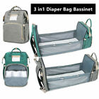 3in1 Large Foldable Baby Diaper Bag Travel Sleep Bed Portable Crib Backpack USA