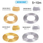 5 10m/Roll 3/5mm Flat Aluminum Wire Jewelry Craft Wires for DIY Jewelry Making