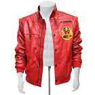 Mens Cobra Kai The Karate Kid Johnny Lawrence Red Real Leather Jacket