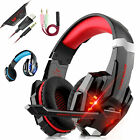 3.5mm USB Gaming Headset Headphones LED MIC Surround for Nintendo Switch PS5 PC