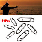 50pcs Tactical Anglers Power Clips Fast Snap Fishing Terminal Multipacks~