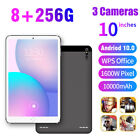 10.1 inch 8 256GB Android 10.0 Pad GPS WiFi Triple Camera Dual SIM HD Tablet