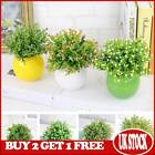 Artifical Flowers Outdoor Orchid Grass Fit Potted Home Garden Decor Plants New