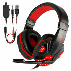 LED Stereo Surround Gaming Headset Adjustable Mic Headphone for PS4/PS5/Xbox One