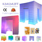 7 Colors Led Inflatable Photo Booth Tent Air Pump Backdrop for Party Wedding US